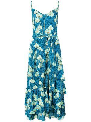 Mixed Print Midi Dress