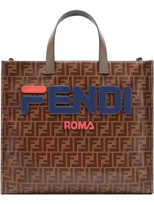 Fendimania Logo Print Tote Bag