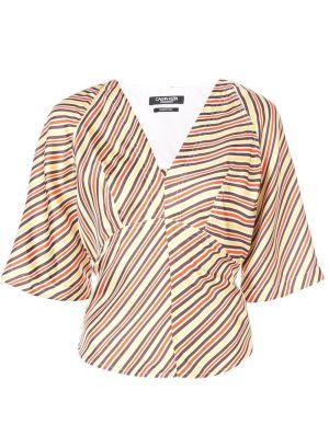 Striped Back Tie Blouse