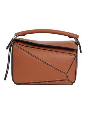 Mini Puzzle Bag, Brown