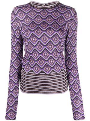Purple Metallic Geometric Top