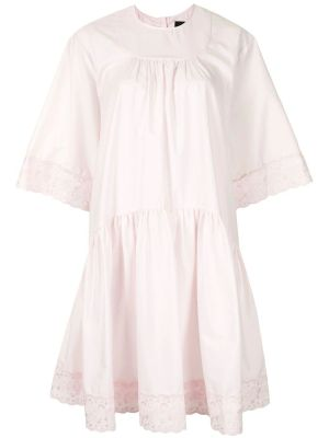 Light Pink Gathered Dress