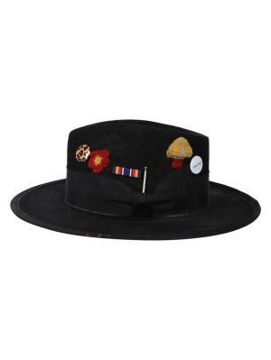 Los Crudos Black Fedora Hat