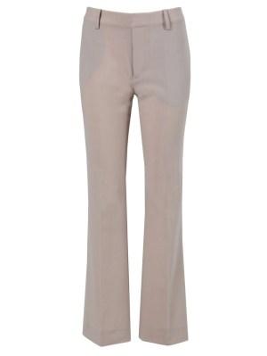 Beige Flared Trousers