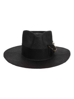 Midnight Straw Hat, Black