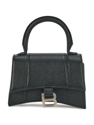 Hourglass Top Handle Bag, Black