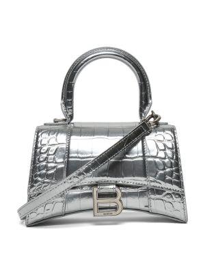 Hourglass Top Handle Bag, Silver