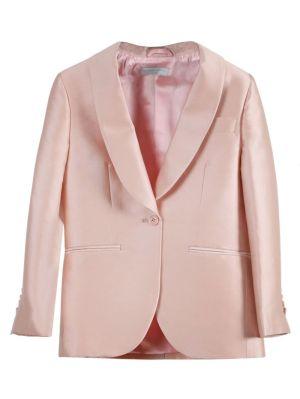 Kids Rose Pink Tailored Suit Set