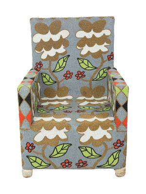 Gold Flower Design Garden Chair