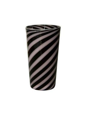 Black And Rose Spiral Tumbler
