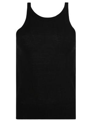Wool Knit Tank, Black