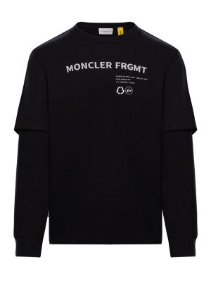 7 Moncler Fragment Hiroshi Fujiwara Black Double Sleeve T-shirt