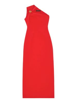 Red One-shoulder Evening Gown