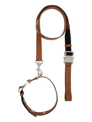 Leather Leash Collar Set Camel