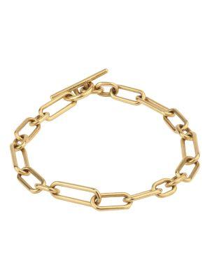 18k Matte Gold Ovalado Bracelet