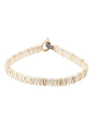 18k Gold And Silver Diamond Small Zig Bracelet