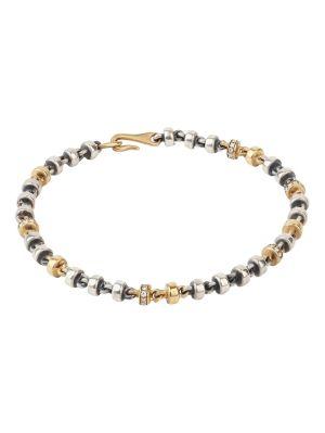 18k Matte Gold And Silver Diamond Medium Omni Bracelet