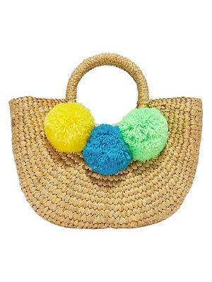 Multicolored Pompom Basket