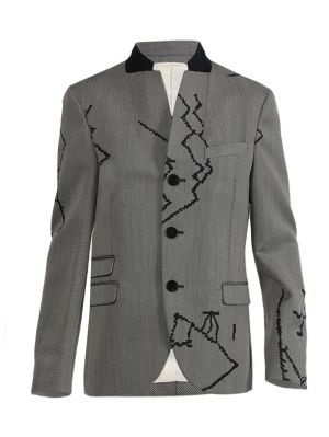 Grey Berber Print Jacket