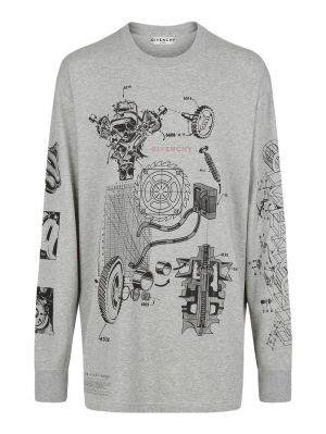 Schematics Oversized T-shirt, Grey