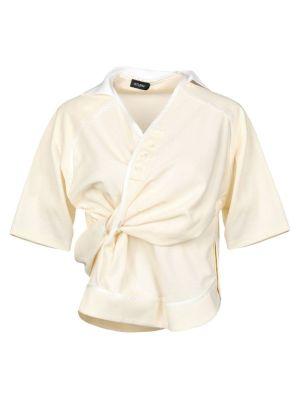 Ivory Silk-blend Shirt