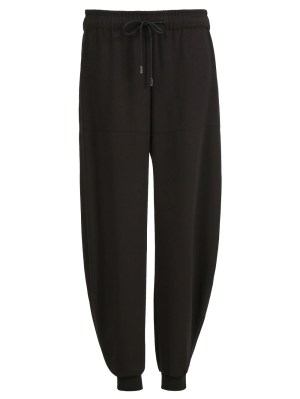 Satin Crepe Jogging Pants