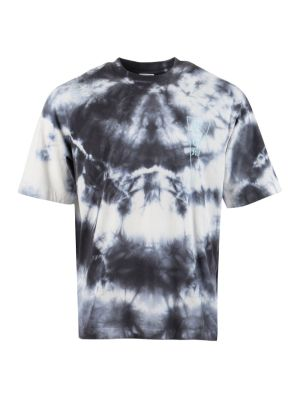Blue And White Tie-dye T-shirt