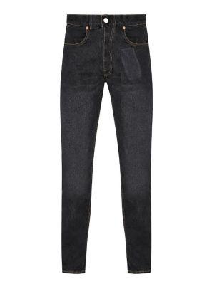 Pocket Print Straight Leg Jeans Black