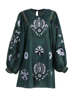 Jasmine Green Embroidered Dress