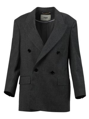 Double Breasted Blazer Jacket, Grey