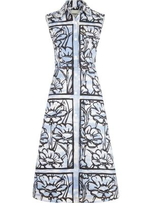 X Joshua Vides Ff Sky Flowers Denim Dress