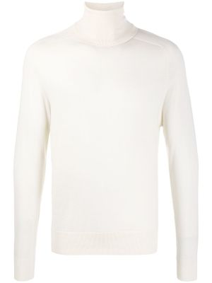 Ivory Rib-knit Jumper