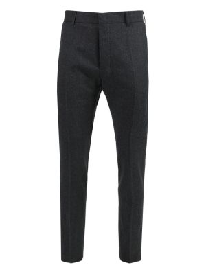 Heather Grey Wool Trousers