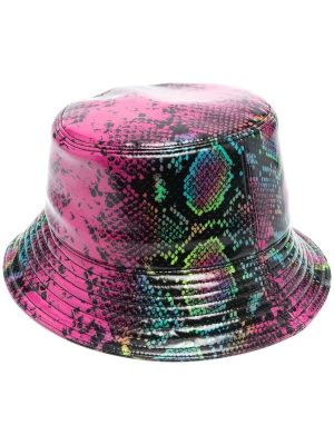 Snakeskin Print Bucket Hat
