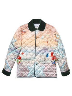 Quilted Ski Club Jacket