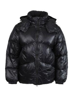 High Neck Puffer Jacket, Black