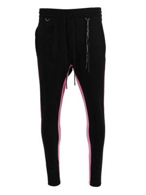 Black And Pink Logo Jogger Pants