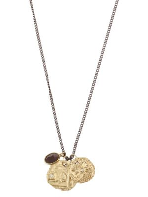 18k Gold And Silver Coin Necklace