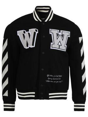 Diagonal Varsity Bomber Jacket