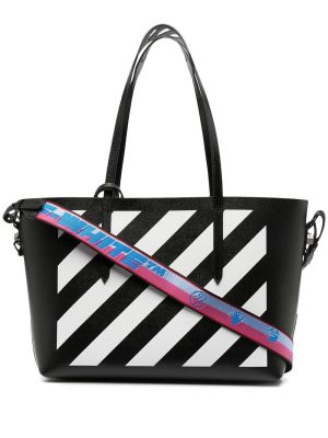 Diagonal Shopper Tote
