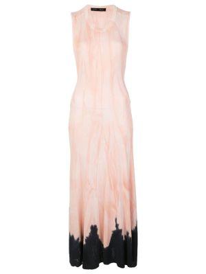 Pink And Black Tie-dye Dress