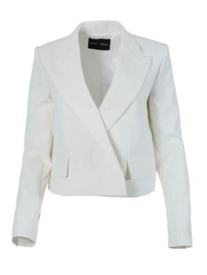 White Tuxedo Blazer Jacket
