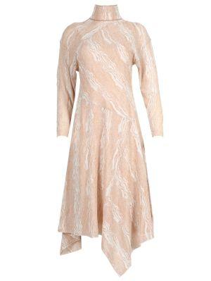 Woodgrain Print Dress