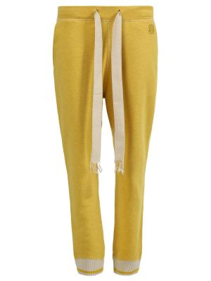 Yellow Anagram Embroidered Track Trousers