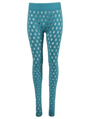 Perforated Leggings, Aqua