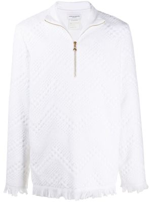 Frayed Terry Jacquard Sweater