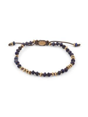 Matte Lapis & Gold Gemstone Bracelet