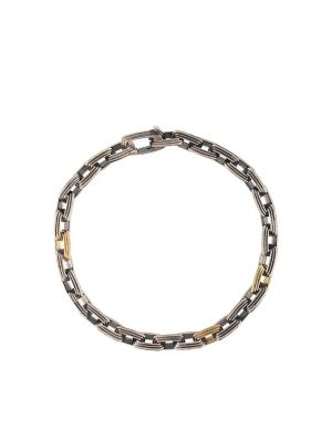 Silver And Gold 7mm Equinox Link Bracelet