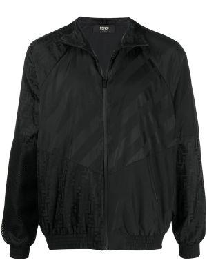 Black Ff Logo Bomber Jacket