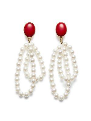 Red Wildflower Earrings
